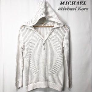 MICHAEL Michael Kors White Open knit Hoodie L